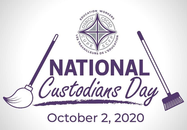 National Custodian's Day is October 2, 2020